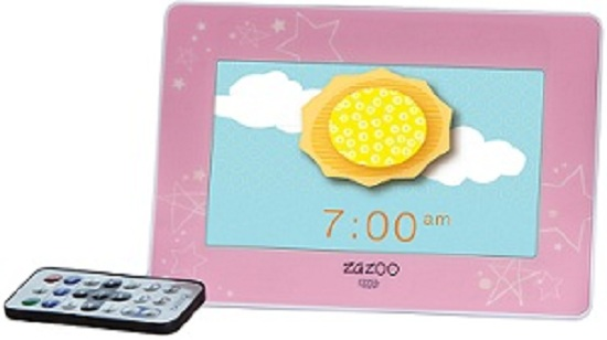 Zazoo PINK w/ STARS Kids Photo Training Alarm Clock w/ Child Songs Music at Sears.com