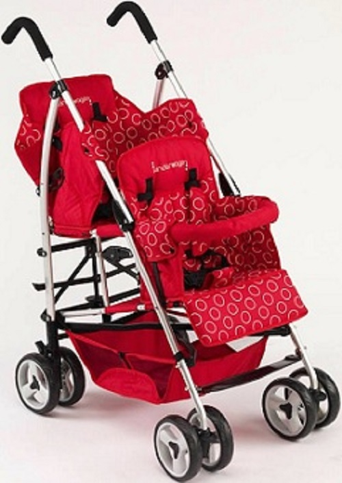 Kinderwagon Red Hop Double Child Stroller W Canopy Ebay