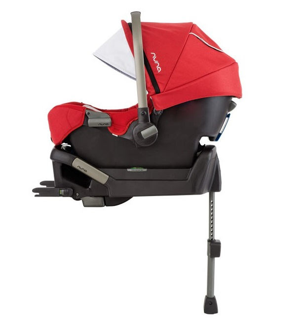 Nuna Nuna Pipa Infant Baby Car Seat With Base Scarlet